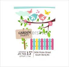 14 Printable Psd Garden Party Invitation Templates Psd Free