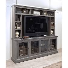 Rustic Gray 2 Piece Modern Entertainment Center  Churchill Rustic Entertainment Center H74