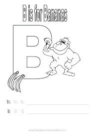 Color Letter B Printable Coloring Pages Alphabet Page To Color