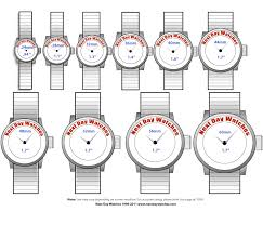 Mens Watch Case Size Chart Bulova Mens Watch Mens Watches Sizes