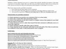 Basic Sample Of Resume And Thesis Statement Outline Samples And
