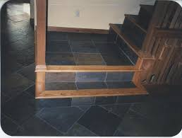 red oak and slate tile combination photos