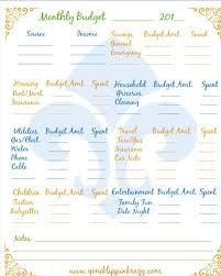 Free Monthly Budget Forms To Print Out Budget Chart