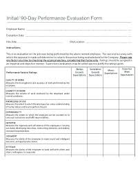 new hire review form annual employee review template self format sample form forms job