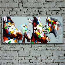 bright colored oil paintings abstract horse painting canvas oil painting simple abstract paintings canvas pictures bedroom