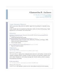 Proper Objective For Resume Impressive Samantha Resume