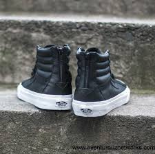 vans sk8 hi reissue zip premium leather black true white men