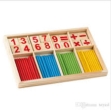 Wooden Math Games 100 New Wood Number Math Game Stick Montessori Educational Abacus 2