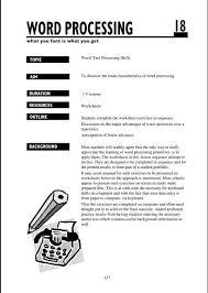 Creative Word Processing Activities Creative Activities To Teach