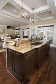 Kitchen: Pendant Lighting Over Kitchen Sink Beverage Serving Wall ...
