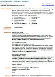 bookkeeper cv example bookkeeper resume examples