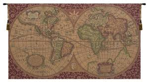 red tapestry wall hanging