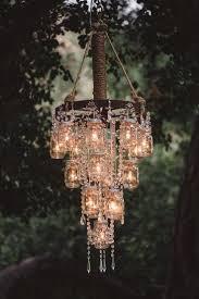 diy solar chandelier battery powered outdoor hanging lights from trees wedding vintage santa barbara garden