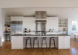 above min establishes a visual consistency by using the color white for kitchen cabinets as well walls caesarstone was used island modern farmhouse ranch interior b31 interior