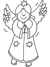 Kleurplaat Engel Kerstmis Kleurplatennl
