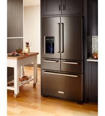 Kitchen Aid French Door Kitchenaid Krmf706ebs French Door Freestanding Refrigerator
