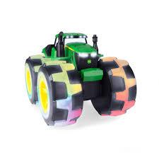john deere tractor toys. john deere monster treads deluxe lightning wheels tractor - green toys \