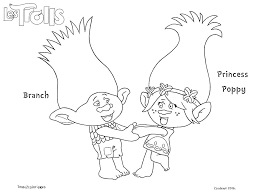 Trolls Movie Coloring Pages Gallery Print Color Troll Collection