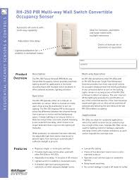 Stairwell Lighting Occupancy Sensor Rh 250 Pir Multi Way Wall Switch Convertible Occupancy Sensor