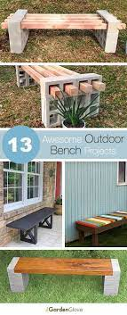13 awesome outdoor bench projects the