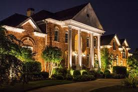 nashville home with outdoor lighting led architectural lighting