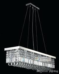 chandeliers crystals for chandelier 8 lights x crystal rectangle pendant lamp rain drop design flush