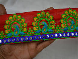 Saree Border Designs Images The Trim Has A Beautiful Embroidered Design