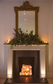 Decorating Flameless Candles For Fireplace Fireplace Candelabra With Candles  In Fireplace