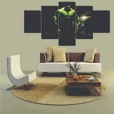 Large Living Room Paintings 2016 5 Pcs Large Hd Hulk With Abstract Canvas Print Painting For