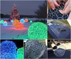 christmas outdoor lighting ideas. creative ideas diy outdoor christmas light balls lighting