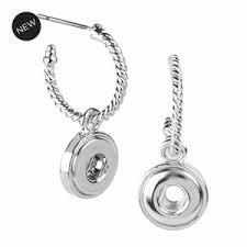 mini twist hoop earrings