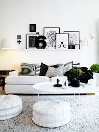 Designs by Style: 1 Black And White Lounge Dining Room - Modern