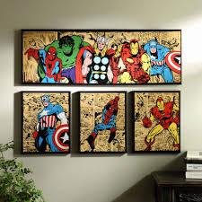 marvel area rug inspirational marvel superheroes canvas art prints set of 4