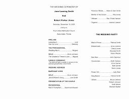 Catholic Wedding Mass Program Free Sample Wedding Programs Templates Lovely Free Downloadable