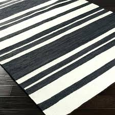 striped flat weave rug black and white designs blue navy awesom
