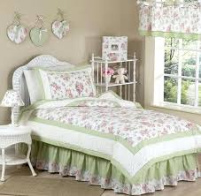green fl bedding sets sweet designs shabby chic pink green flower kid twin bedding set for