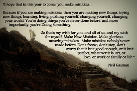 davidnabbott com make mistakes this year gaiman quote