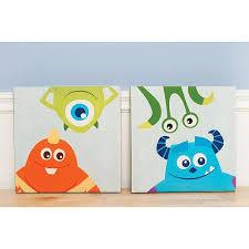 Good Disney Baby Monsters Inc. Premier 2 Piece Canvas Wall Art   Kids Line