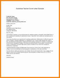 Cover Letter Substitute Teacher 7 Substitute Teacher Cover Letters Letter Signature