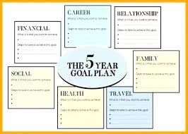 5 year career plan example career plan template sample 5 year life pdf