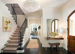 view full size chic foyer features an oly studio pipa bowl chandelier