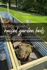 how to fill raised garden beds without