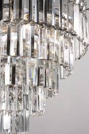 stunning antique silver plated five tier chandelier with crystal prisms c 1930 s nc917 for