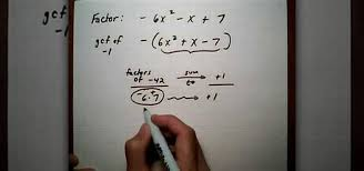 how to factor a trinomial with negative leading coefficient math wonderhowto