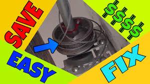 garage door cable off easy fix