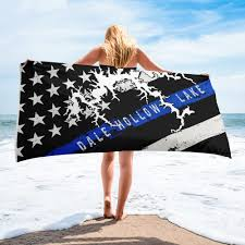 Fishing boats, pontoon boats, campground w/ water, electric & some sewer. Dale Hollow Lake American Flag Thin Blue Line Beach Towel Houseboat Kings