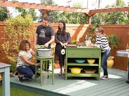 Outdoor Kitchen Sink Station Outdoor Kitchen Station And Sink The Kitchen Food Network