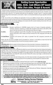 bank of khyber bok nts jobs application form online click here