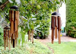 hand crafted wood wind chime