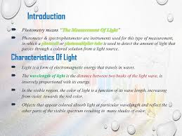 Function Of Light Source In Spectrophotometer Colorimeters Or Photometers Ppt Download